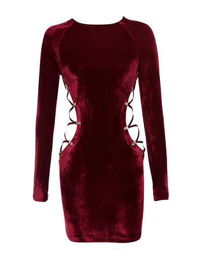 Red Velvet Dress - Awesome World - Online Store  - 2