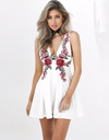 Roses V-Neck Mini Dress - Awesome World - Online Store  - 1
