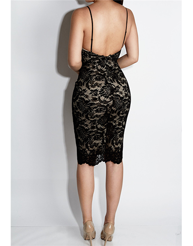 Lace Backless Dress - Awesome World - Online Store  - 2