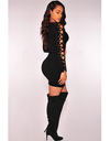 Lace up Sleeves Mini Dress - Awesome World - Online Store  - 1