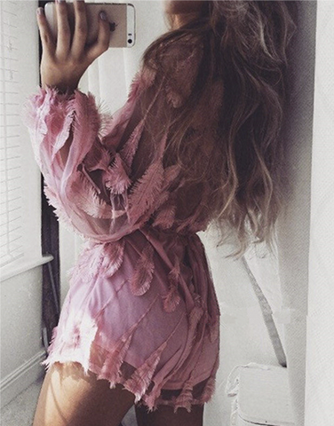 Pink Feathers Jumpsuit