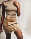 Turtleneck Brown Two Piece - Awesome World - Online Store  - 1