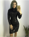 Geometric Black Sequin Dress - Awesome World - Online Store  - 2