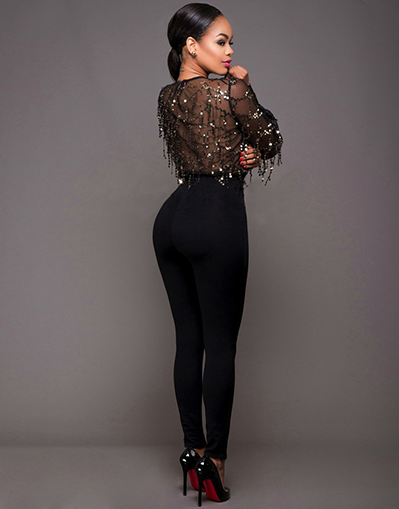 Sparkle Black Jumpsuit - Awesome World - Online Store  - 2