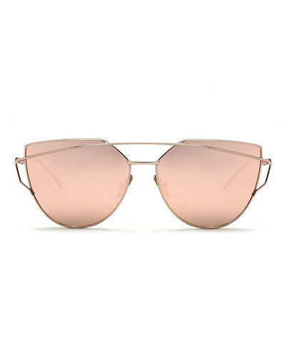 Metal Frame Trendy Sunglasses - Awesome World - Online Store  - 3
