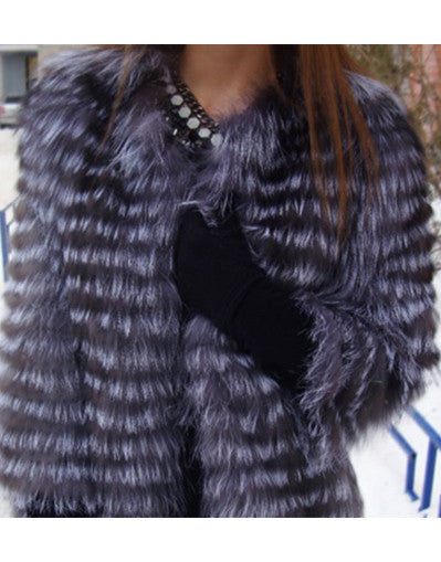 Genuine Blue & Black Fur Coat - Awesome World - Online Store  - 1