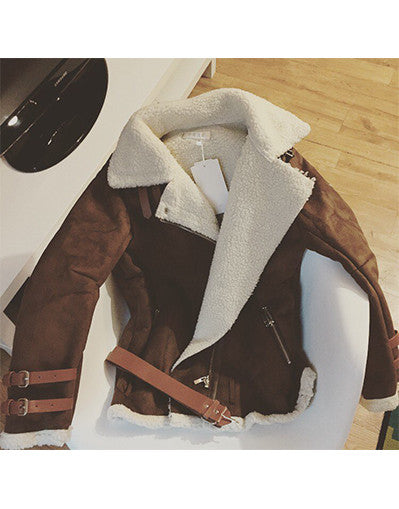 Brown Kylie Boyfriend Style Coat - Awesome World - Online Store  - 3