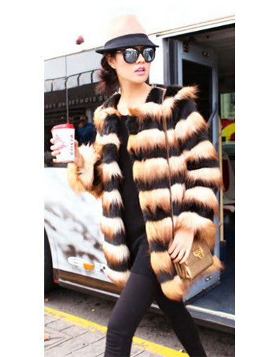 Black & Gold Luxury Fur Coat - Awesome World - Online Store  - 3
