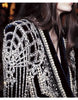B Pearl Beading Black Blazer - Awesome World - Online Store  - 2