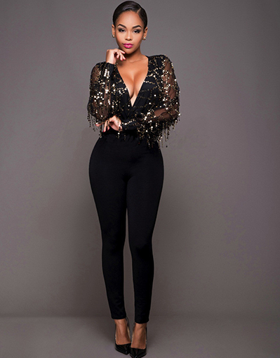 Sparkle Black Jumpsuit - Awesome World - Online Store  - 1