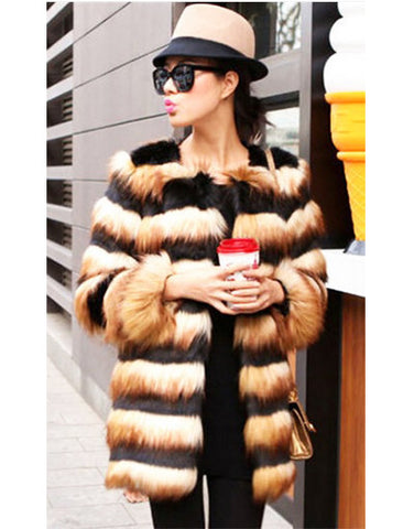 Black & Gold Luxury Fur Coat