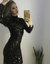 Geometric Black Sequin Dress - Awesome World - Online Store  - 1