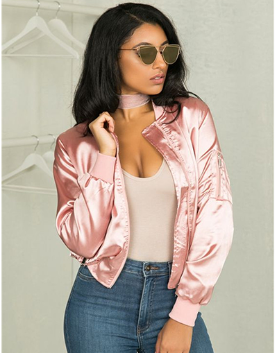 Pink Bomber Jacket - Awesome World - Online Store  - 1