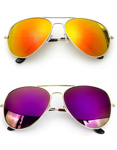 Mirrored Aviators Sunglasses - 7 Colors - Awesome World - Online Store  - 3