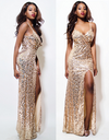 Sequinned Gold Gown - Awesome World - Online Store  - 1