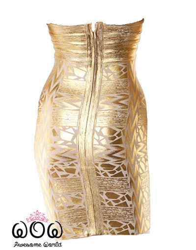 Luxury Gold Dress - Awesome World - Online Store  - 4