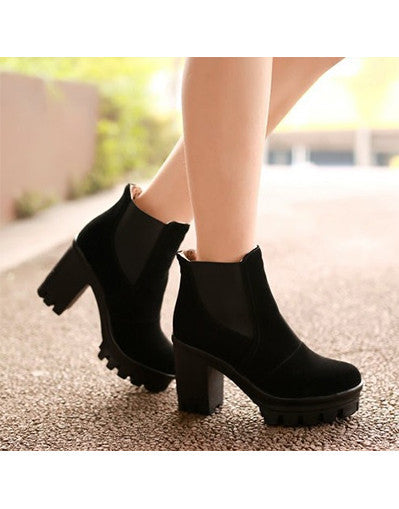 Platform Ankle Boots - 4 colors - Awesome World - Online Store  - 1