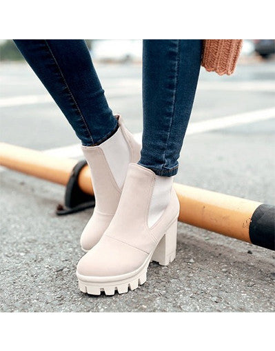 Platform Ankle Boots - 4 colors - Awesome World - Online Store  - 2