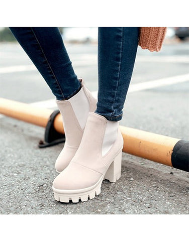 Platform Ankle Boots - 4 colors