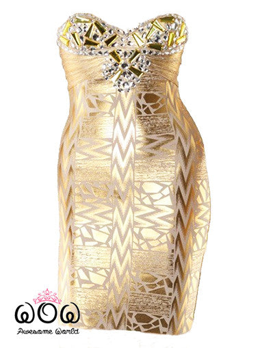 Luxury Gold Dress - Awesome World - Online Store  - 3