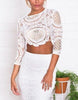 Trendy Lace Short Crop Top - 2 Colors - Awesome World - Online Store