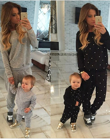 Trendy White Dot Tracksuit