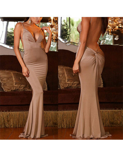 Sexy V-neck Backless Dress - Awesome World - Online Store  - 2