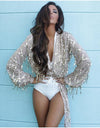 Khloe Shiny Top w/ Long Sleeves - Awesome World - Online Store  - 1
