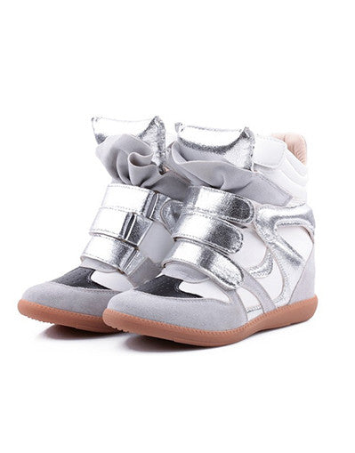 Wedge Sneakers - Metallic - Awesome World - Online Store  - 3