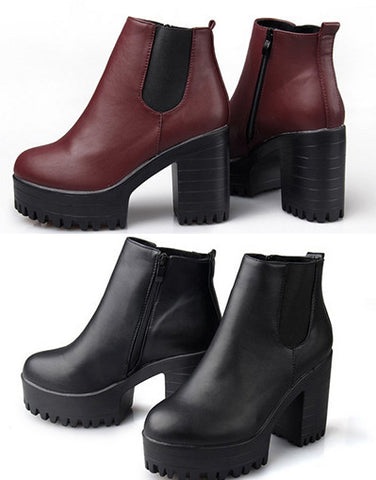 Warm Platform Boots - 2 colors