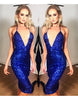 Royal Blue Backless Glitter Dress - Awesome World - Online Store  - 1