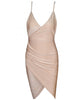 Nude Silky Style Mini Dress - Awesome World - Online Store  - 2