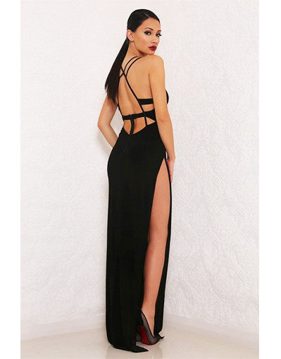 Strappy Black Dress - Awesome World - Online Store  - 1