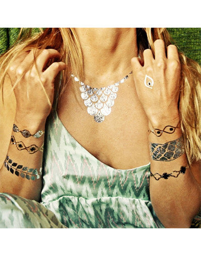 Temporary Metallic Tattos Set - Awesome World - Online Store  - 2
