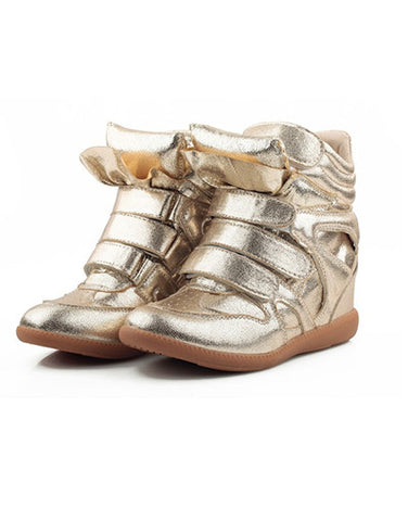 Wedge Sneakers - Metallic