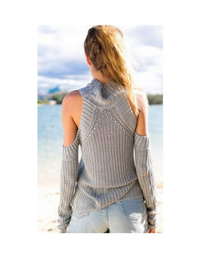 High Neck Without Shoulders Sweater -  6 Colors - Awesome World - Online Store  - 4