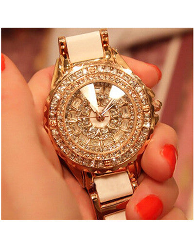White Rhinestone Watch - Awesome World - Online Store  - 1