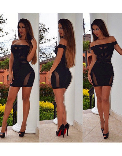 Transparent Bandage Dress - 2 colors - Awesome World - Online Store  - 2