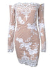Glam Edition - Off Shoulder White Sequins Dress - Awesome World - Online Store  - 2