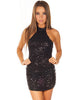 Glitter Halter Neck Dress - 2 colors - Awesome World - Online Store  - 1