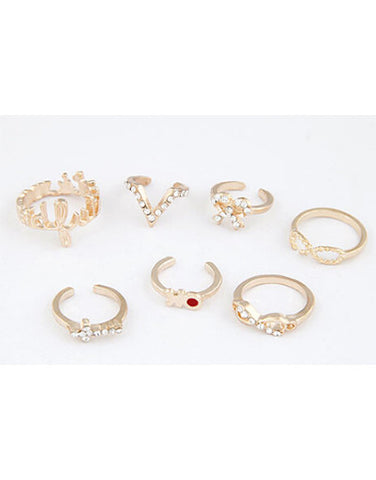 7 pcs Stylish Rings