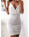 Velvet Celeb Dress - Red or White - Awesome World - Online Store  - 1