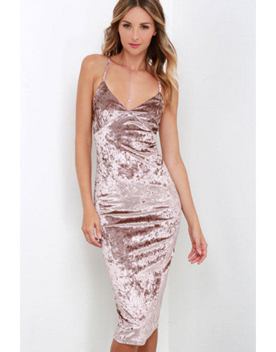 Velvet Kylie Style Dress - Awesome World - Online Store  - 3