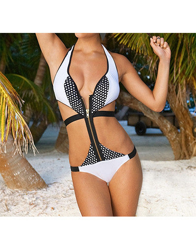 Bandage White Swimsuit - Awesome World - Online Store  - 1