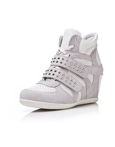 Wedge Rivets Sneakers - 2 colors - Awesome World - Online Store  - 2