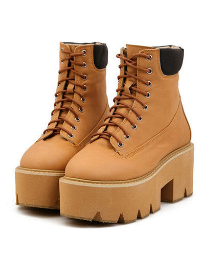 Ankle Platform Boots - 6 COLORS - Awesome World - Online Store  - 1