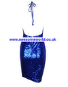 Royal Blue Backless Glitter Dress - Awesome World - Online Store  - 2