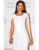 Bandage Irina White Midi Dress - Awesome World - Online Store  - 1