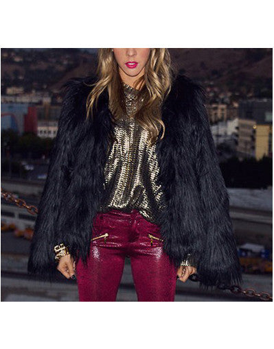 Faux Fur Overcoat - 3 Colors - Awesome World - Online Store  - 2