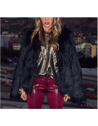 Faux Fur Overcoat - 3 Colors